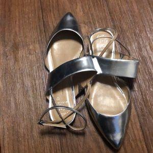 Gently worn Silver Banana Republic shoes
